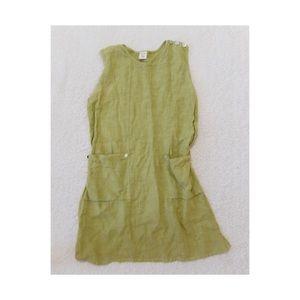 Anthropologie Bitteroot 100% Linen Green Dress